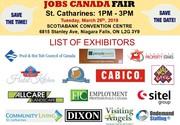 FREE: Niagara/St Catharines Job Fair – March 26th,  2019