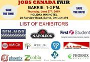 Barrie Job Fair - 27 June 2019